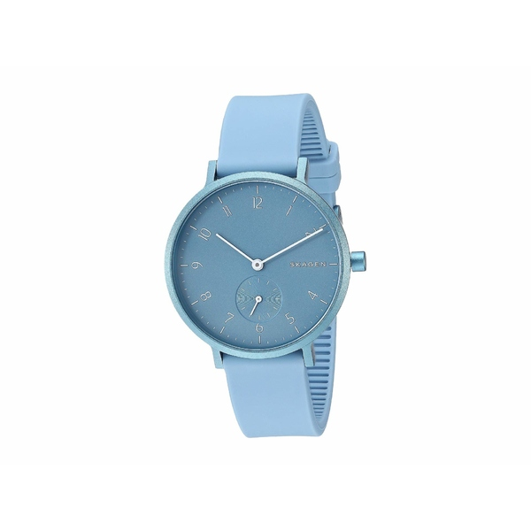 スカーゲン レディース 腕時計 アクセサリー Aaren Kulor 36mm Three-Hand Silicone Watch SKW2764 Light Blue Silicone