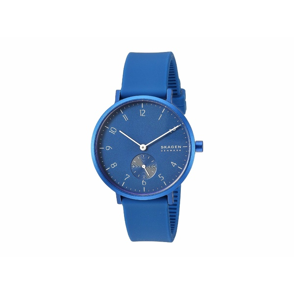 スカーゲン レディース 腕時計 アクセサリー Aaren Kulor 36mm Three-Hand Silicone Watch SKW2817 Blue Silicone