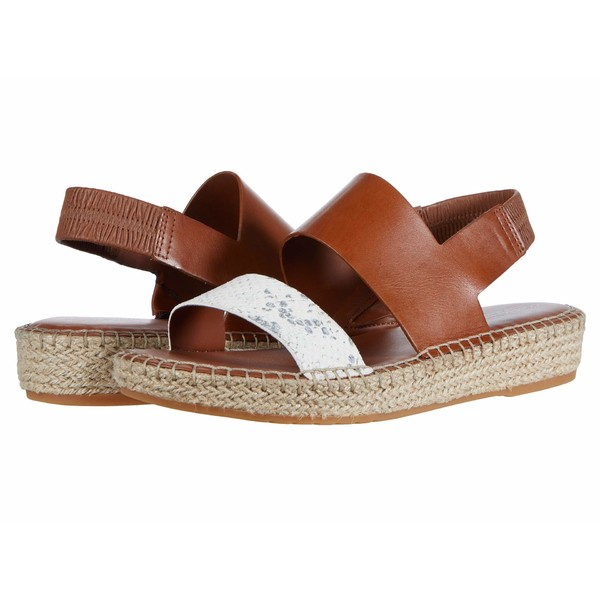 コールハーン レディース サンダル シューズ Cloudfeel Espadrille Sandal Natural Chalk Python Print Leather/British Tan Leather