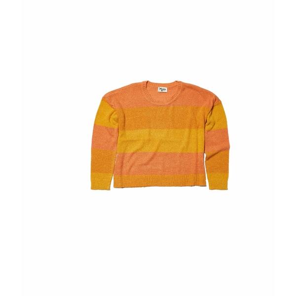 ウミーユアムーム レディース ニット&セーター アウター Cropped Varsity Sweater Sunkissed Stripe Knit