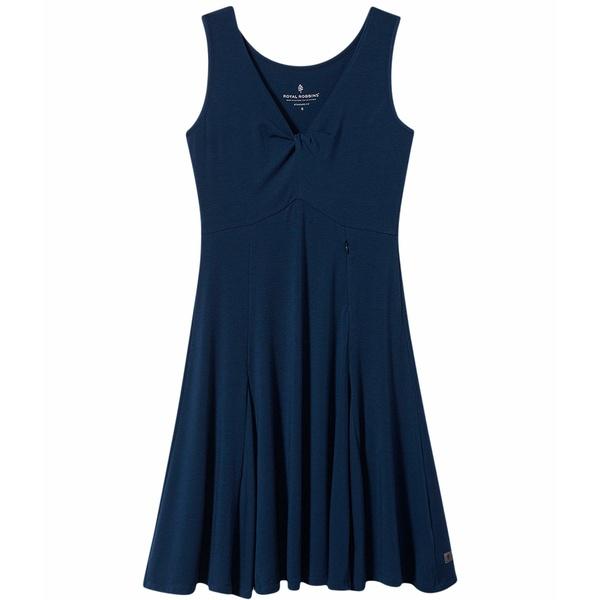 ロイヤルロビンズ レディース ワンピース トップス Essential Tencel Dress Deep Blue