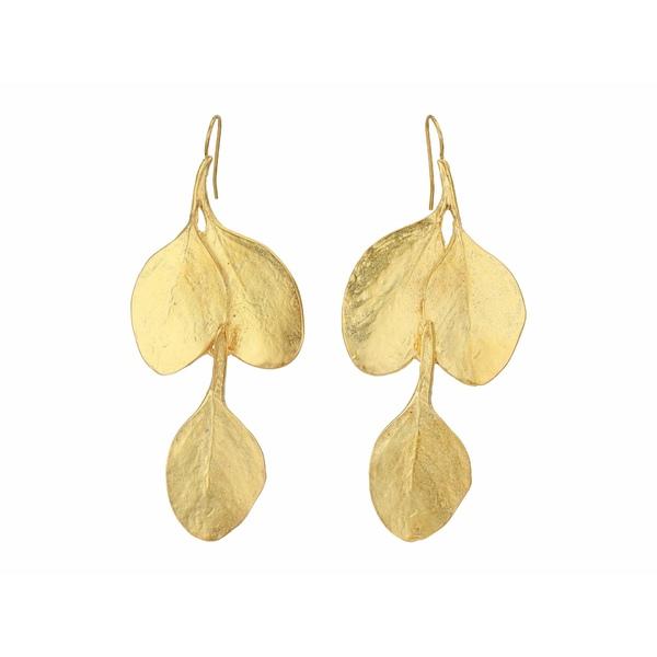 ケネスジェイレーン レディース ピアス&イヤリング アクセサリー Leaf Hook Earrings Satin Gold