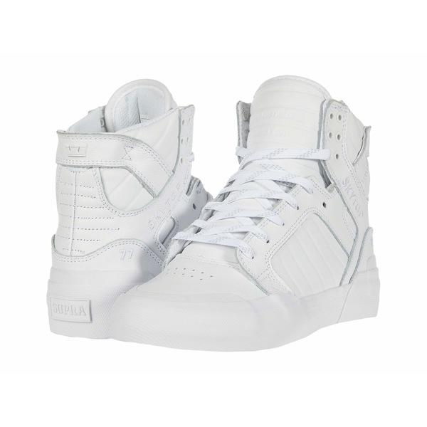 スープラ メンズ スニーカー シューズ Skytop 77 White/White