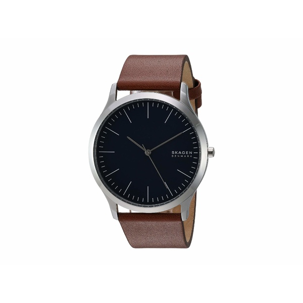 スカーゲン メンズ 腕時計 アクセサリー Jorn Three-Hand Watch SKW6546 Silver Brown Leather