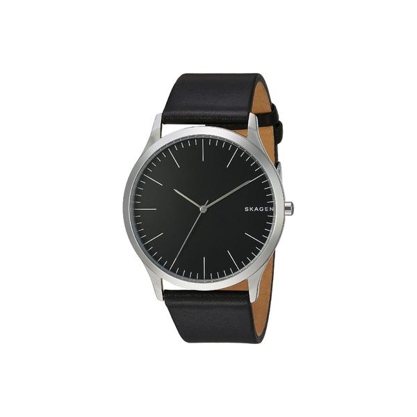 スカーゲン メンズ 腕時計 アクセサリー Jorn Three-Hand Watch SKW6329 Black Leather