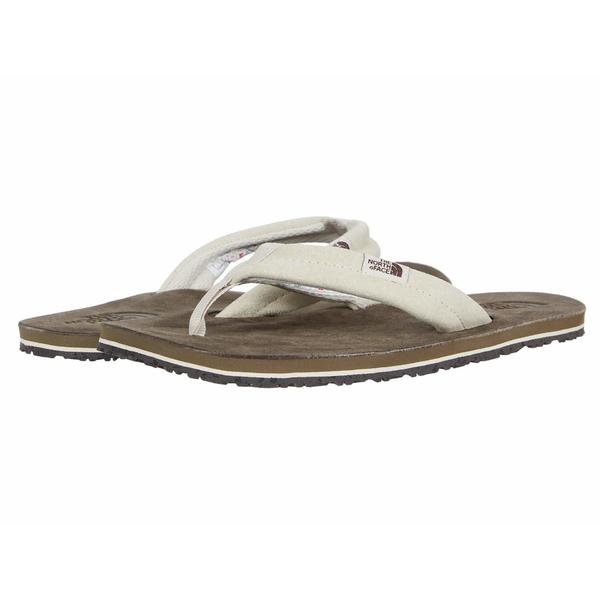 ノースフェイス レディース サンダル シューズ Base Camp Leather Flip-Flop Vintage White/Bipartisan Brown