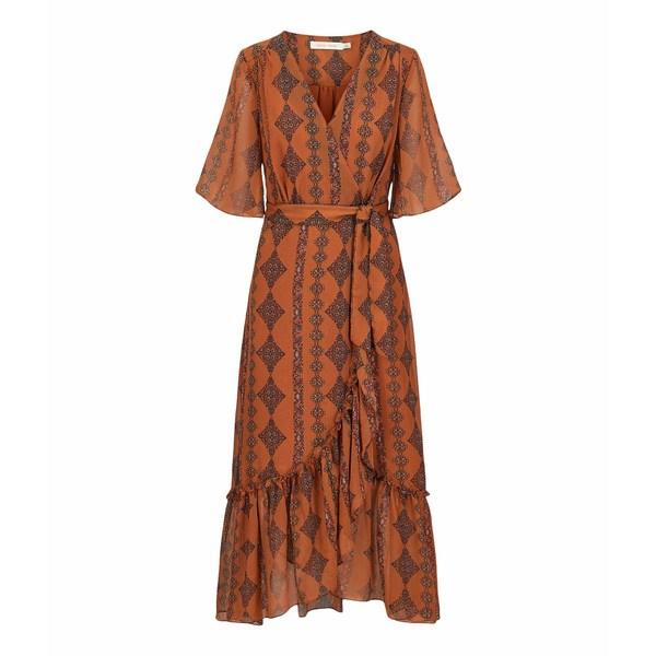 ビジョッププラスヤング レディース ワンピース トップス Delfina Wrap Dress Zoya Print
