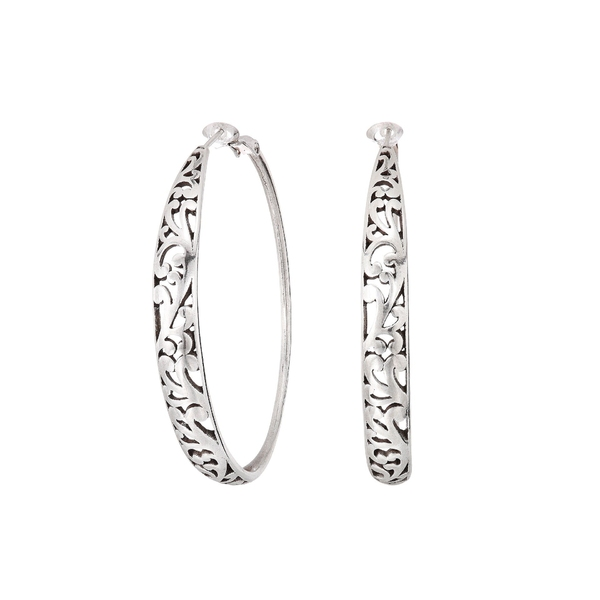 ブライトン レディース ピアス&イヤリング アクセサリー Elora Leverback Hoop Earrings Silver