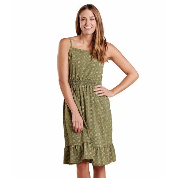 ドード アンドコー レディース ワンピース トップス Sunkissed Bella Dress Bronze Green Medium Bandana Print