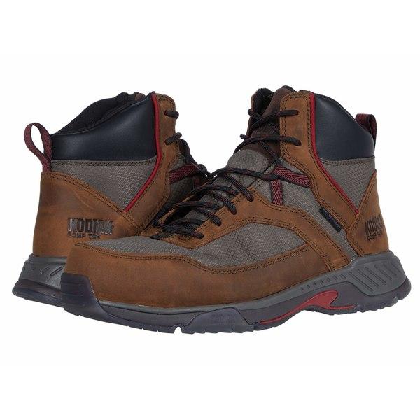 コディアック メンズ ブーツ&レインブーツ シューズ MKT 1 Composite Toe Hiker Brown/Red