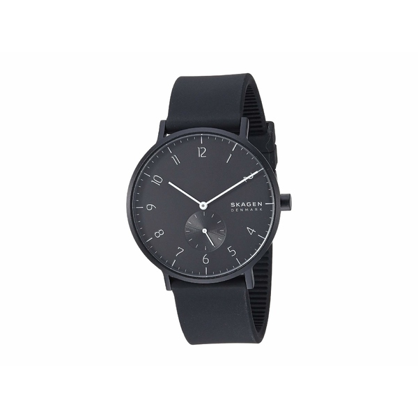 スカーゲン メンズ 腕時計 アクセサリー Aaren Kulor 41mm Three-Hand Silicone Watch SKW6544 Black Silicone
