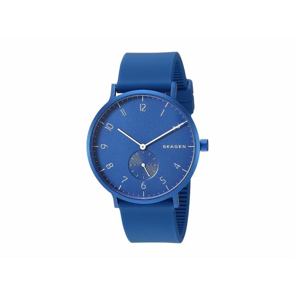 スカーゲン メンズ 腕時計 アクセサリー Aaren Kulor 41mm Three-Hand Silicone Watch SKW6508 Blue Silicone