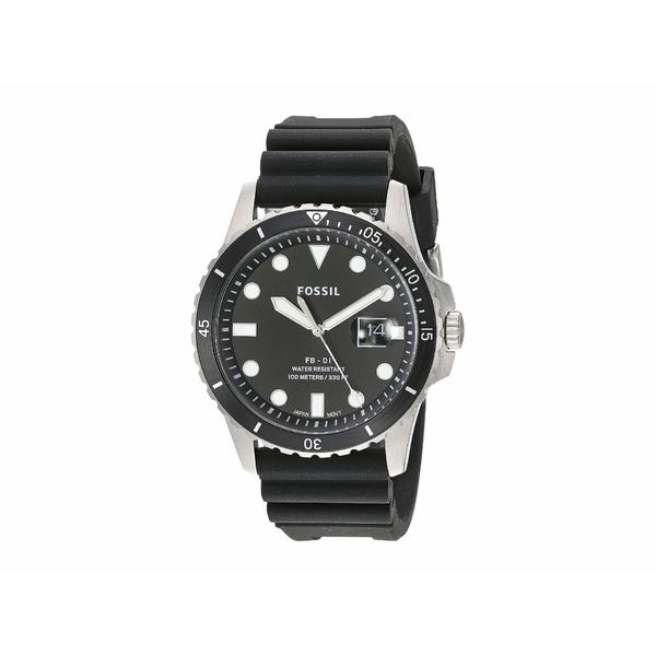 フォッシル メンズ 腕時計 アクセサリー FB-01 Three-Hand Date Men's Watch FS5660 Silver Black Silicone