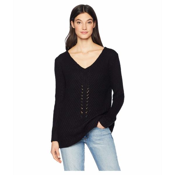 ビービーダコタ レディース ニット&セーター アウター Bedroom Dancing Lace Back Sweater Black