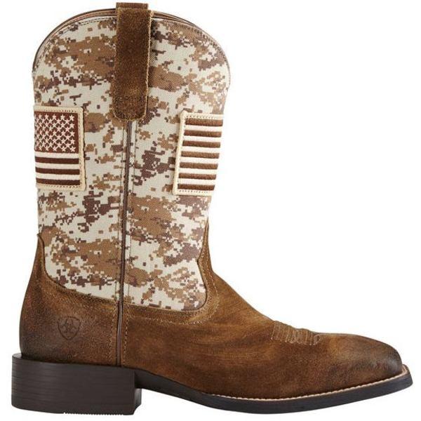 アリアト メンズ ブーツ&レインブーツ シューズ Ariat Men's Sport Patriot Western Boots Mocha
