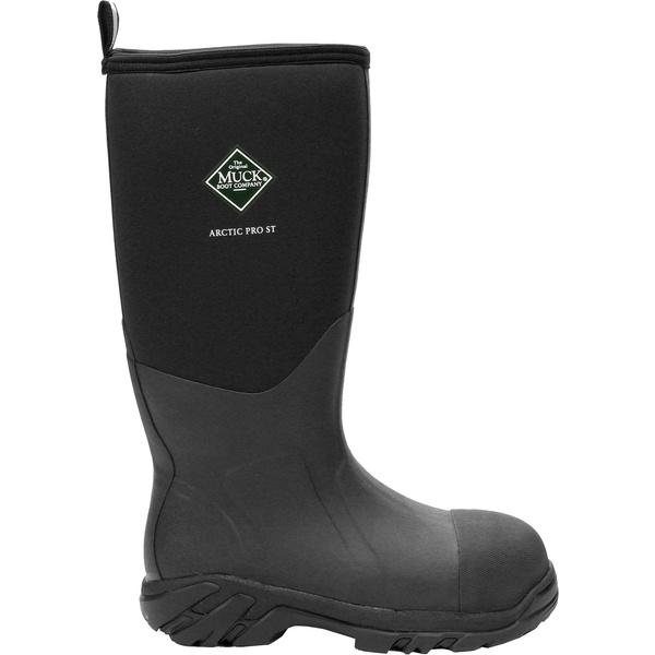ムックブーツ メンズ ブーツ&レインブーツ シューズ Muck Boots Men's Arctic Pro Steel Toe Waterproof Work Boots Black