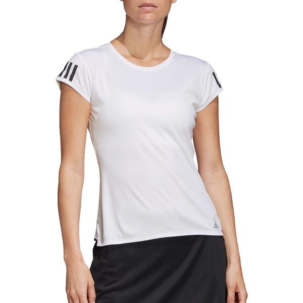 アディダス レディース シャツ トップス adidas Women's Club Three-Stripes Tennis T-Shirt White