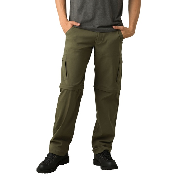 プラーナ メンズ カジュアルパンツ ボトムス prAna Men's Stretch Zion Convertible Pants CargoGreen