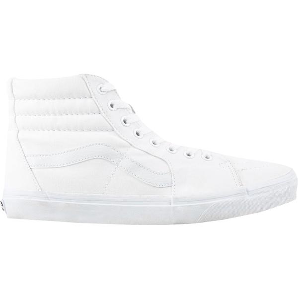 バンズ メンズ スニーカー シューズ Vans Canvas SK8-Hi Shoes White/White