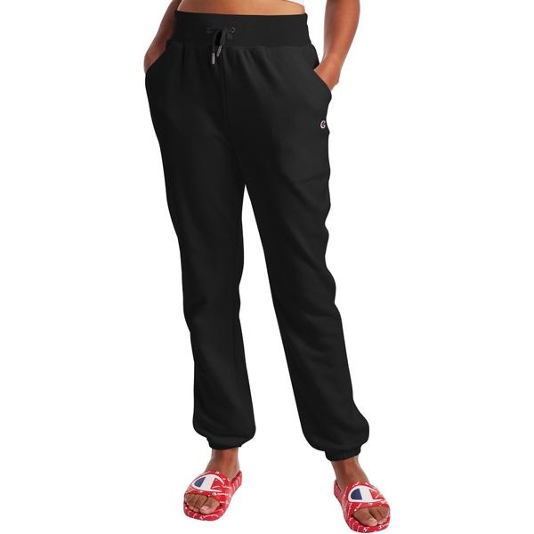 チャンピオン レディース カジュアルパンツ ボトムス Champion Women's Campus French Terry Sweatpants Black