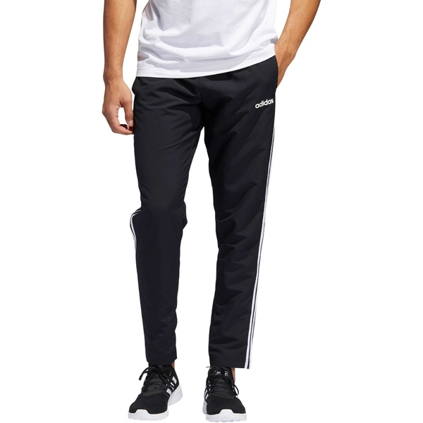 アディダス メンズ カジュアルパンツ ボトムス adidas Men's Essential 3-Stripe Pant Black/White