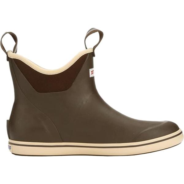 エクストラタフ レディース ブーツ&レインブーツ シューズ XTRATUF Women's 6'' Ankle Waterproof Deck Boots Brown