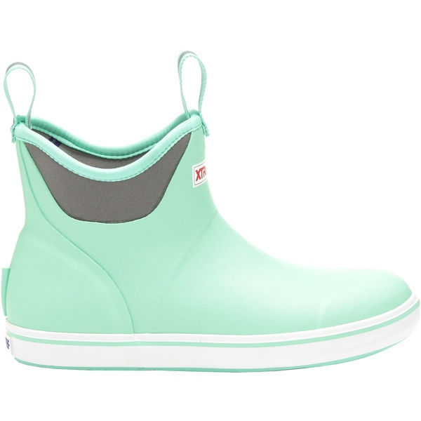 エクストラタフ レディース ブーツ&レインブーツ シューズ XTRATUF Women's 6'' Ankle Waterproof Deck Boots Green