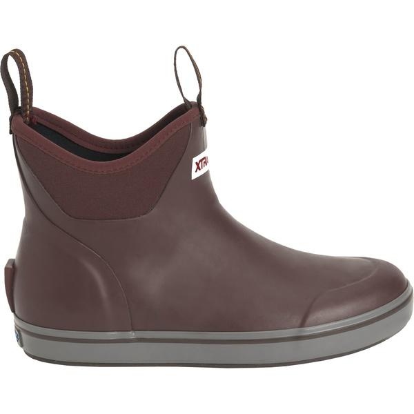 エクストラタフ レディース ブーツ&レインブーツ シューズ XTRATUF Women's 6'' Ankle Waterproof Deck Boots Maroon