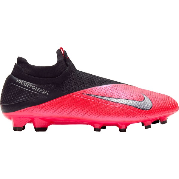 ナイキ メンズ サッカー スポーツ Nike Phantom Vision 2 Elite Dynamic Fit FG Soccer Cleats Red/Silver