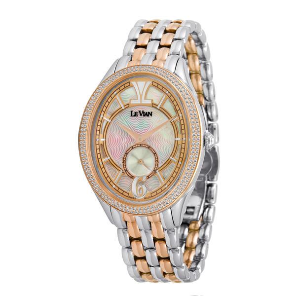 ルヴァン レディース アクセサリー 腕時計 - 全商品無料サイズ交換 Le 有名な Stainless Women's Vian 倉 Steel Watch Diamond