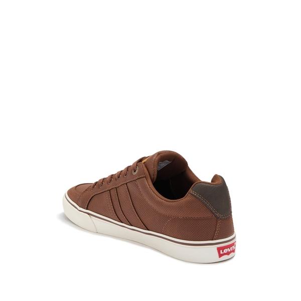 TAN/BROWN リーバイス Turner Side Stripe Sneaker メンズ Lace-Up スニーカー シューズ