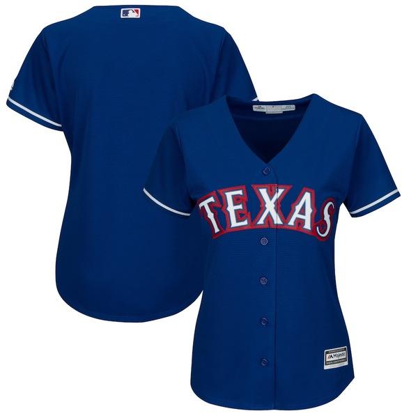 マジェスティック レディース シャツ トップス Texas Rangers Majestic Women's Alternate Plus Size Cool Base Team Jersey Royal