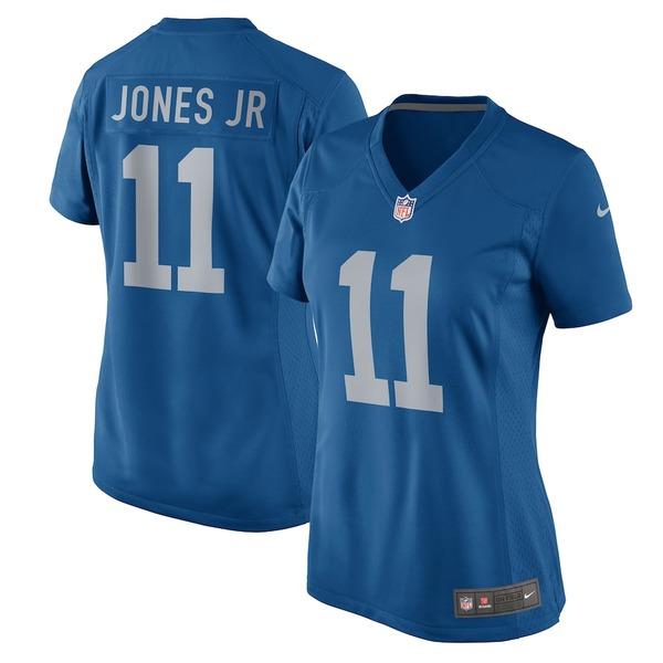 ナイキ レディース シャツ トップス Marvin Jones Jr Detroit Lions Nike Women's 2017 Throwback Game Jersey Blue