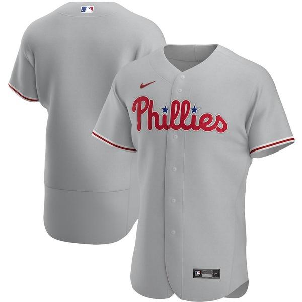 ナイキ メンズ シャツ トップス Philadelphia Phillies Nike Road 2020 Authentic Team Jersey Gray