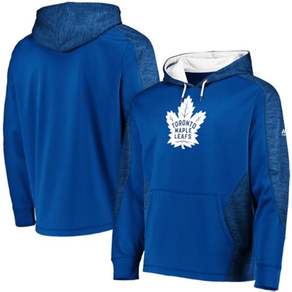 マジェスティック メンズ パーカー・スウェットシャツ アウター Toronto Maple Leafs Majestic Armor Therma Base Pullover Hoodie Blue/White