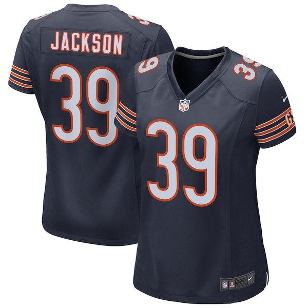 ナイキ レディース シャツ トップス Eddie Jackson Chicago Bears Nike Women's Game Jersey Navy