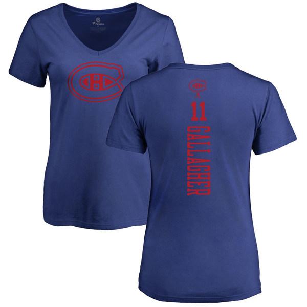 ファナティクス レディース Tシャツ トップス Montreal Canadiens Fanatics Branded Women's Personalized One Color Playmaker VNeck TShirt Royal