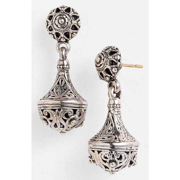 コンスタンティーノ レディース ピアス&イヤリング アクセサリー 'Classics' Filigree Drop Earrings Silverf