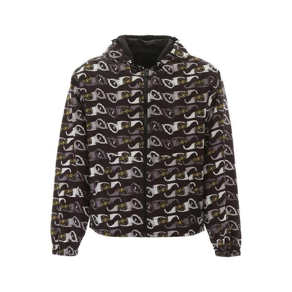 ヴェルサーチ メンズ アウター <セール&特集> ジャケット ブルゾン 在庫限り - Printed Jacket 全商品無料サイズ交換 Sunglasses Versace