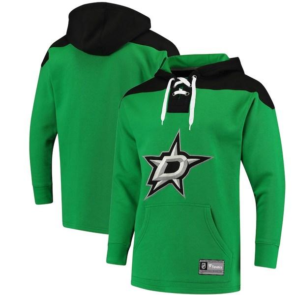 ファナティクス メンズ パーカー・スウェットシャツ アウター Dallas Stars Fanatics Branded Franchise Pullover Hoodie Kelly Green