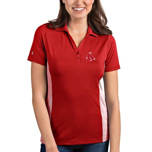 アンティグア レディース ポロシャツ トップス Boston Red Sox Antigua Women's Venture Polo Red/White