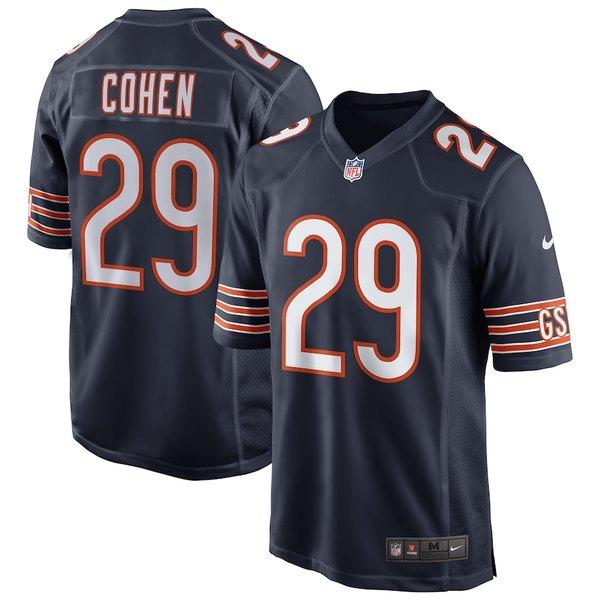 ナイキ メンズ シャツ トップス Tarik Cohen Chicago Bears Nike Game Jersey Navy