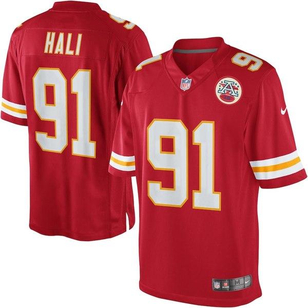 ナイキ メンズ シャツ トップス Tamba Hali Kansas City Chiefs Nike Team Color Limited Jersey Red