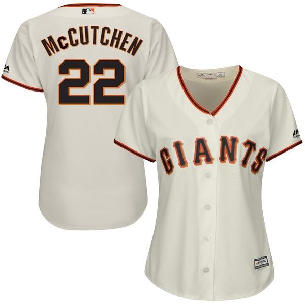 マジェスティック レディース シャツ トップス Andrew McCutchen San Francisco Giants Majestic Women's Cool Base Player Replica Jersey Cream