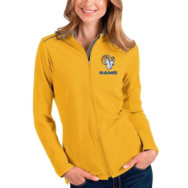 アンティグア レディース ジャケット&ブルゾン アウター Los Angeles Rams Antigua Women's Glacier Full-Zip Jacket Gold