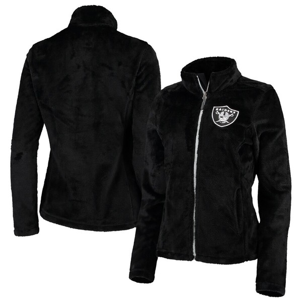カールバンクス レディース ジャケット&ブルゾン アウター Las Vegas Raiders G-III 4Her by Carl Banks Women's Goal Line Full-Zip Jacket Black