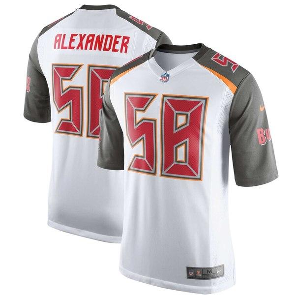 ナイキ メンズ シャツ トップス Kwon Alexander Tampa Bay Buccaneers Nike Player Game Jersey White