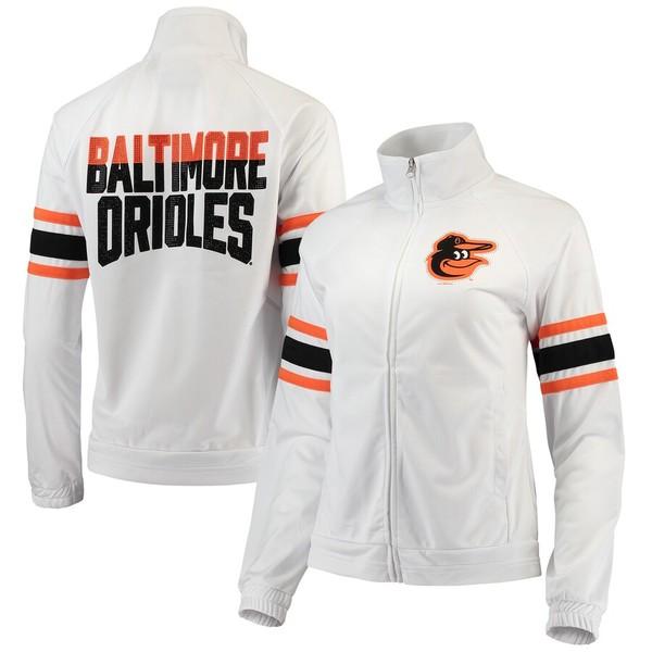 カールバンクス レディース ジャケット&ブルゾン アウター Baltimore Orioles G-III 4Her by Carl Banks Women's Game Score Full-Zip Track Jacket White