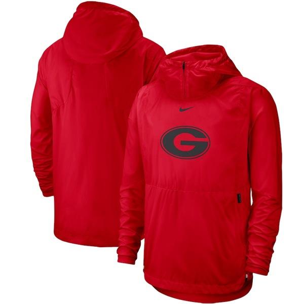ナイキ メンズ ジャケット&ブルゾン アウター Georgia Bulldogs Nike 2019 Player Repel Quarter-Zip Hooded Jacket Red