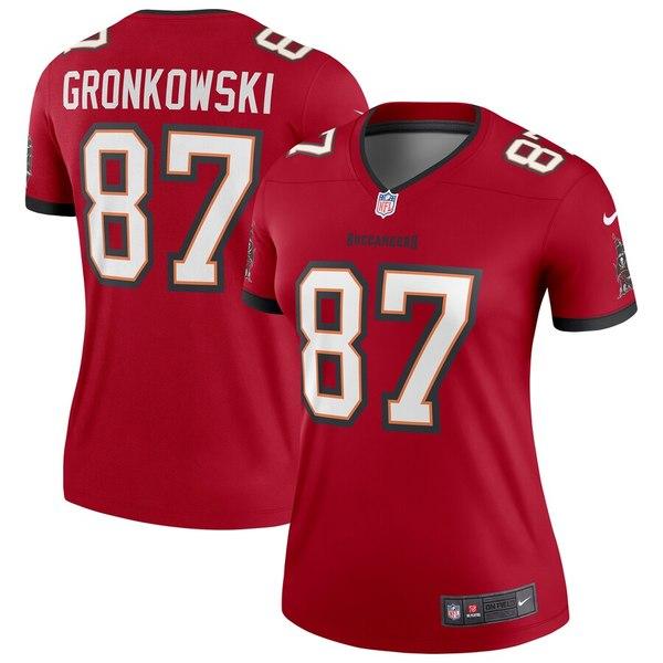ナイキ レディース シャツ トップス Rob Gronkowski Tampa Bay Buccaneers Nike Women's Legend Jersey Red